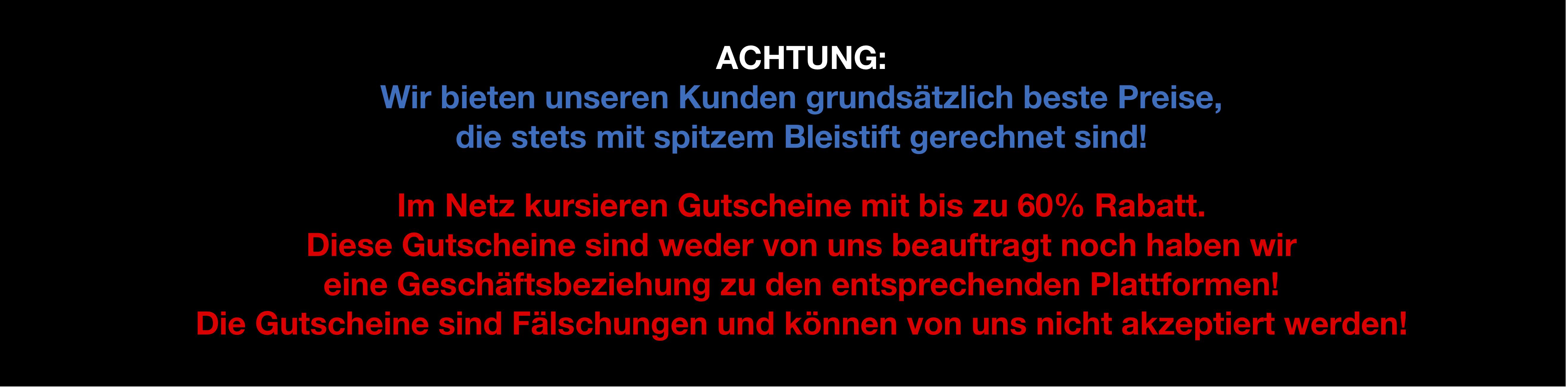 Banner Falsche Gutscheine