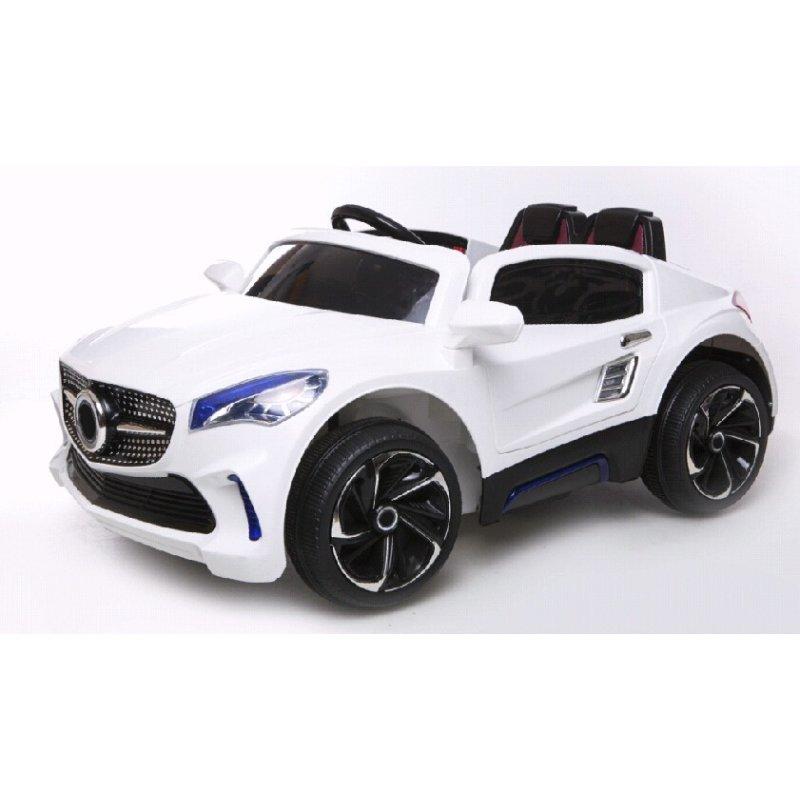 kinderfahrzeug elektro auto f007 ferngesteuert 2x 35w 12v7ah weiss 245 65. Black Bedroom Furniture Sets. Home Design Ideas