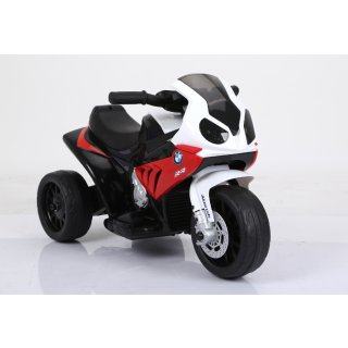 Kinderfahrzeug Elektro Kindermotorrad Dreirad Lizenziert von BMW Modell 188-Rot Batteriebetriebene Fahrzeuge